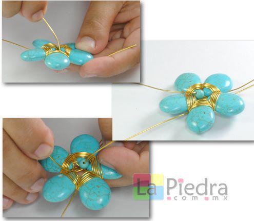 9274ebf1df01 aprenda a hacer collares de turquesa gratis