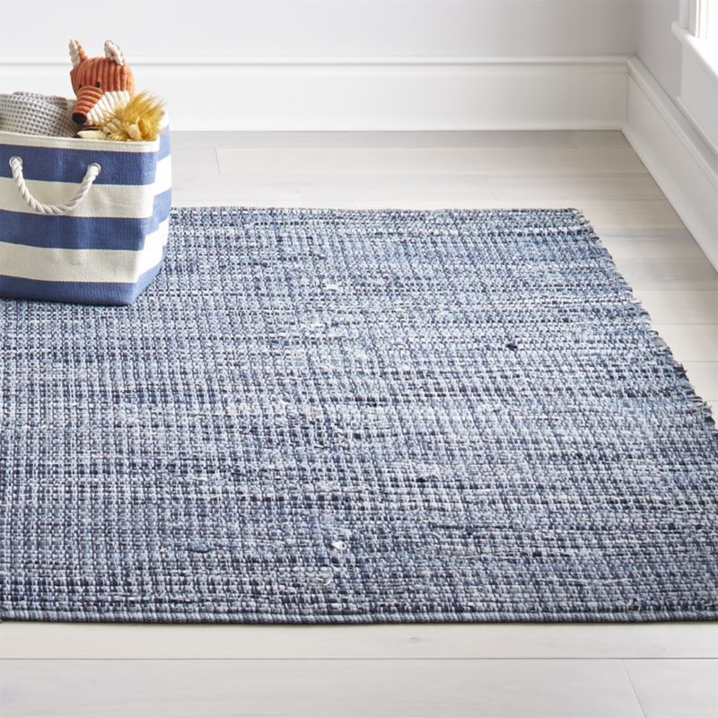 Kids Denim Rag Rug Crate And Barrel