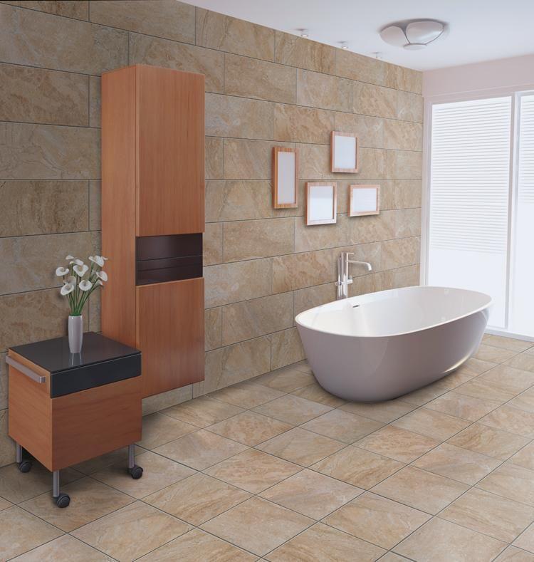 Bathroom Remodel Arizona: Beige 12x24 And 18x18 #florimusa