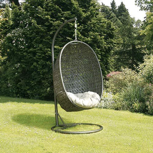 Cora Rattan Hanging Chair: Amazon.co.uk: Garden & Outdoors ...