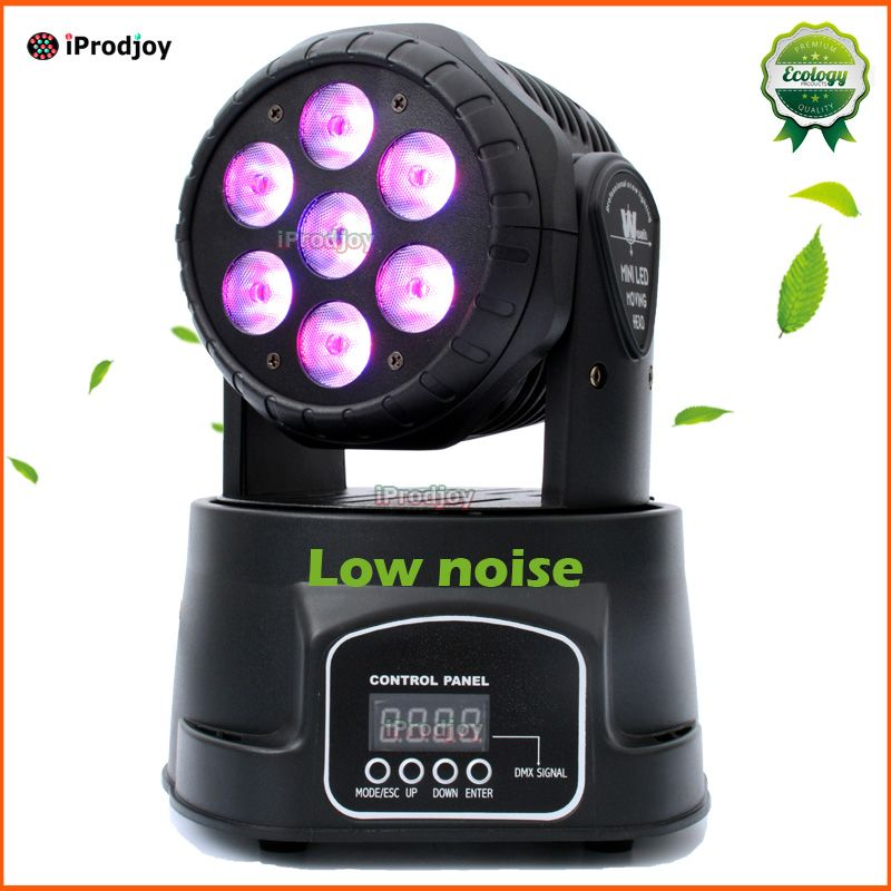 Led Moving Head Wash 7x12 W Mini Muziek Geluid Licht 7 12 W Podium Kerstfeest Lumiere Laser Show Disco Dj Dmx Lamp Rgbw Licht Commercial Lighting Kitchen Appliances Dmx
