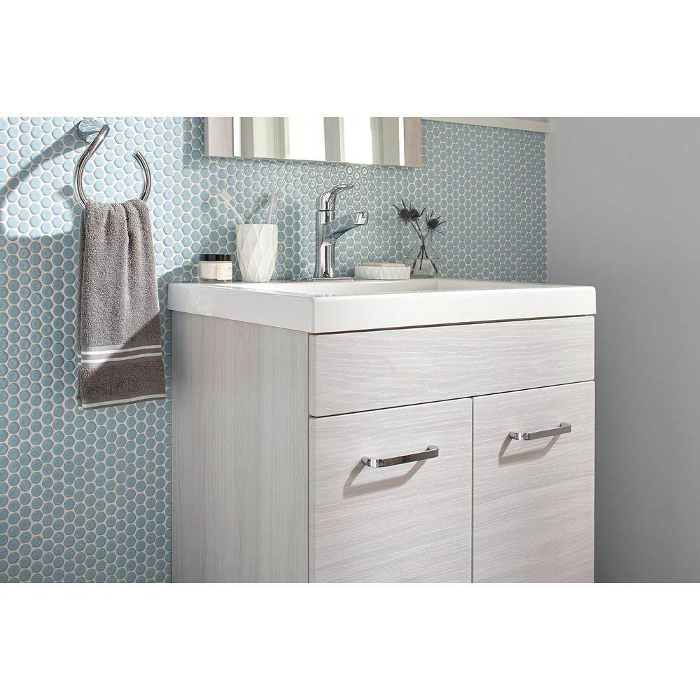 Glacier Bay Stancliff 24 5 In W Vanity In Elm Sky With Cultured