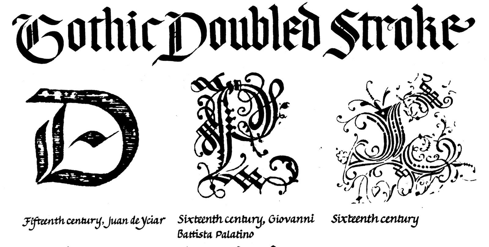 Gothic Doubled Stroke CfC