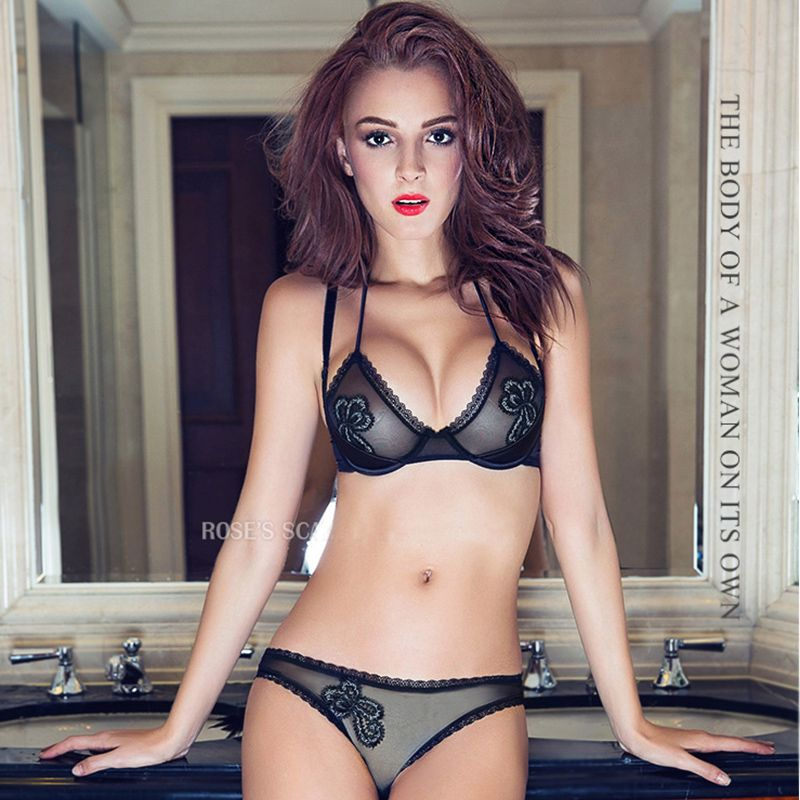 ef1334bd5b French high-end brand sexy T-pants romantic temptation lace bra set young  women underwear set push up lade bra and panty set