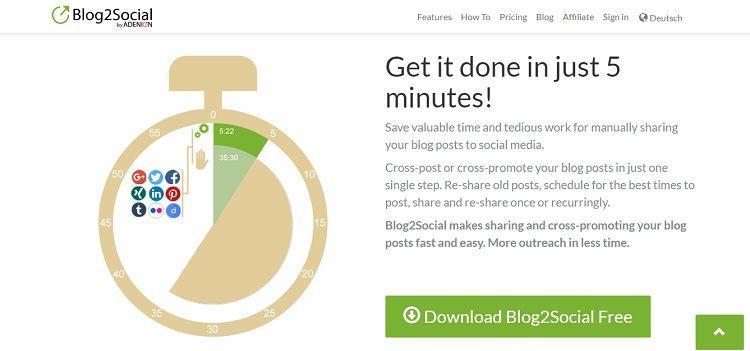 Blog2Social is a WordPress plugin  You may already use tools
