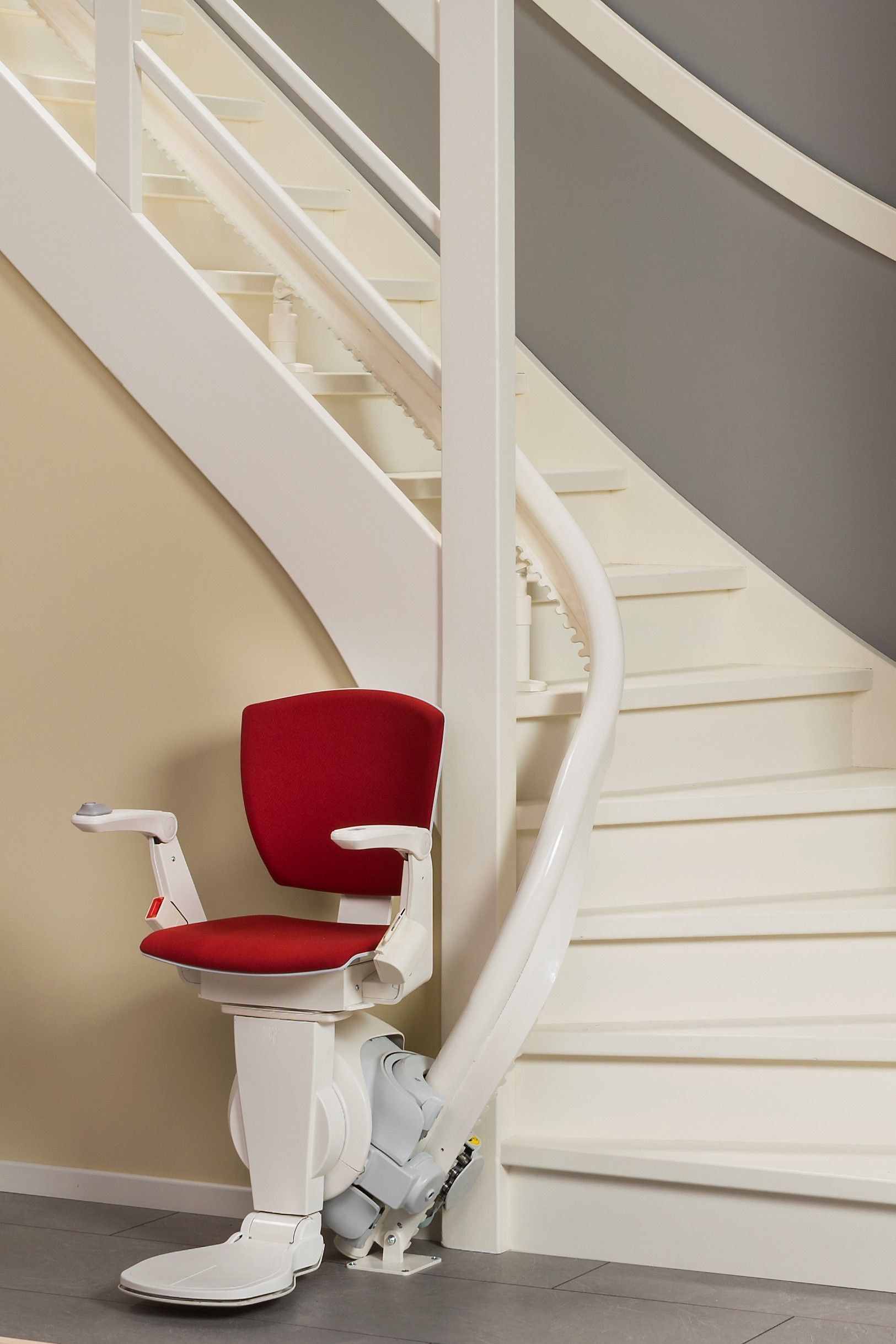 Otolift Air Curved Stairlift Curved Staircase Sleek Design Stair Lift