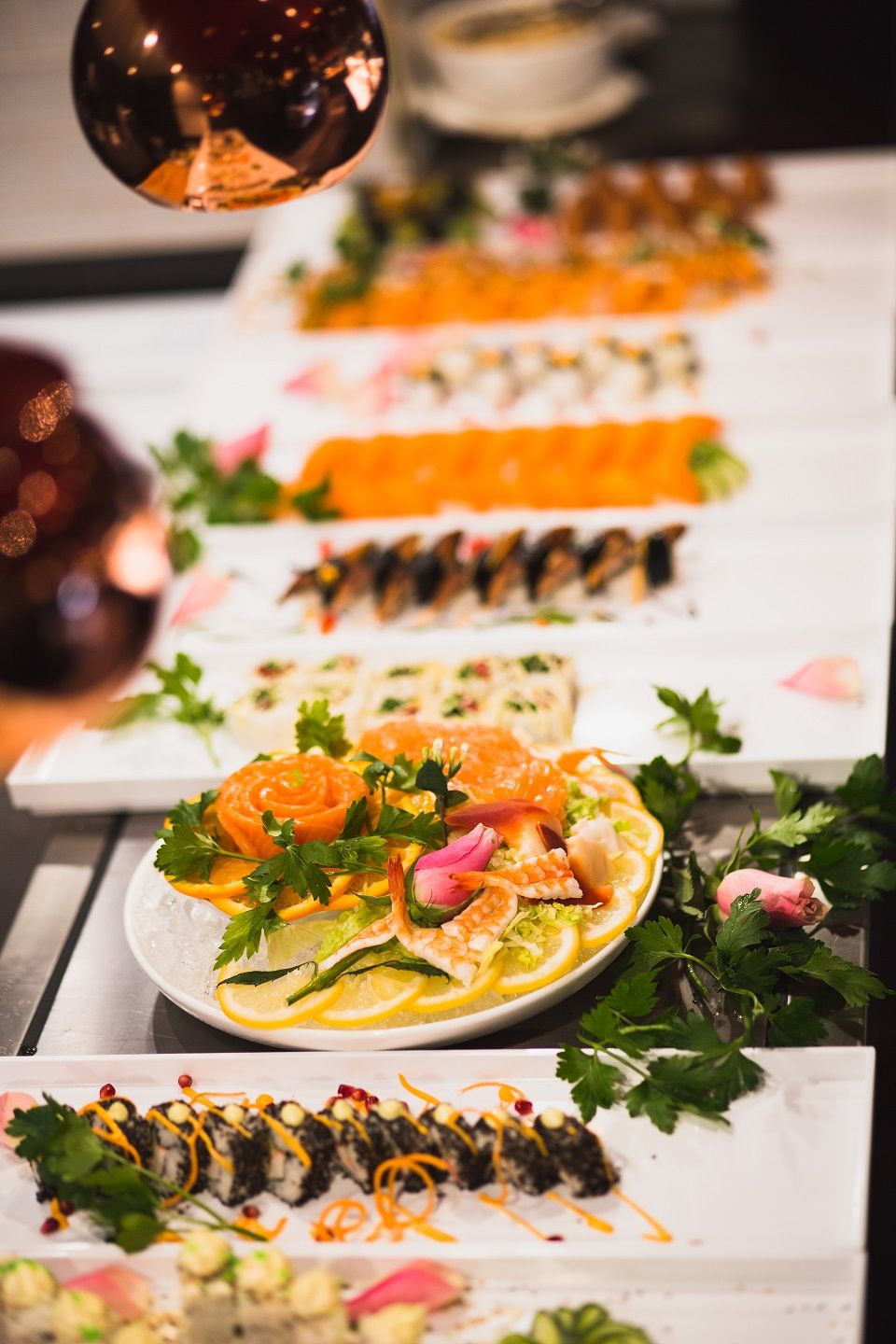 Ri Cora Buffet In Sodermalm With Asian Food Meat Grilled