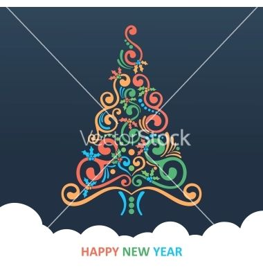 Merry Christmas Card Vector By Nosik On Vectorstock Merry