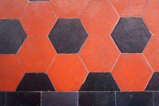 pavimento i cementine liberty: rosse e nere