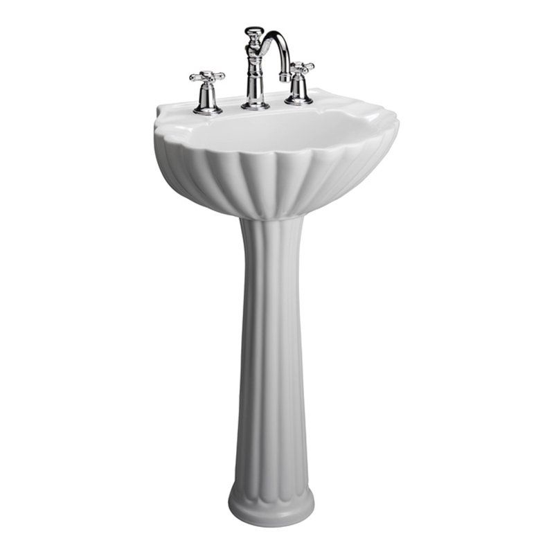 Bali Vitreous China Specialty Pedestal Bathroom Sink With