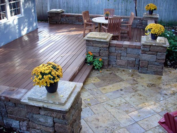 Deck And Paver Patio Designs Google Search Back Porch Yard