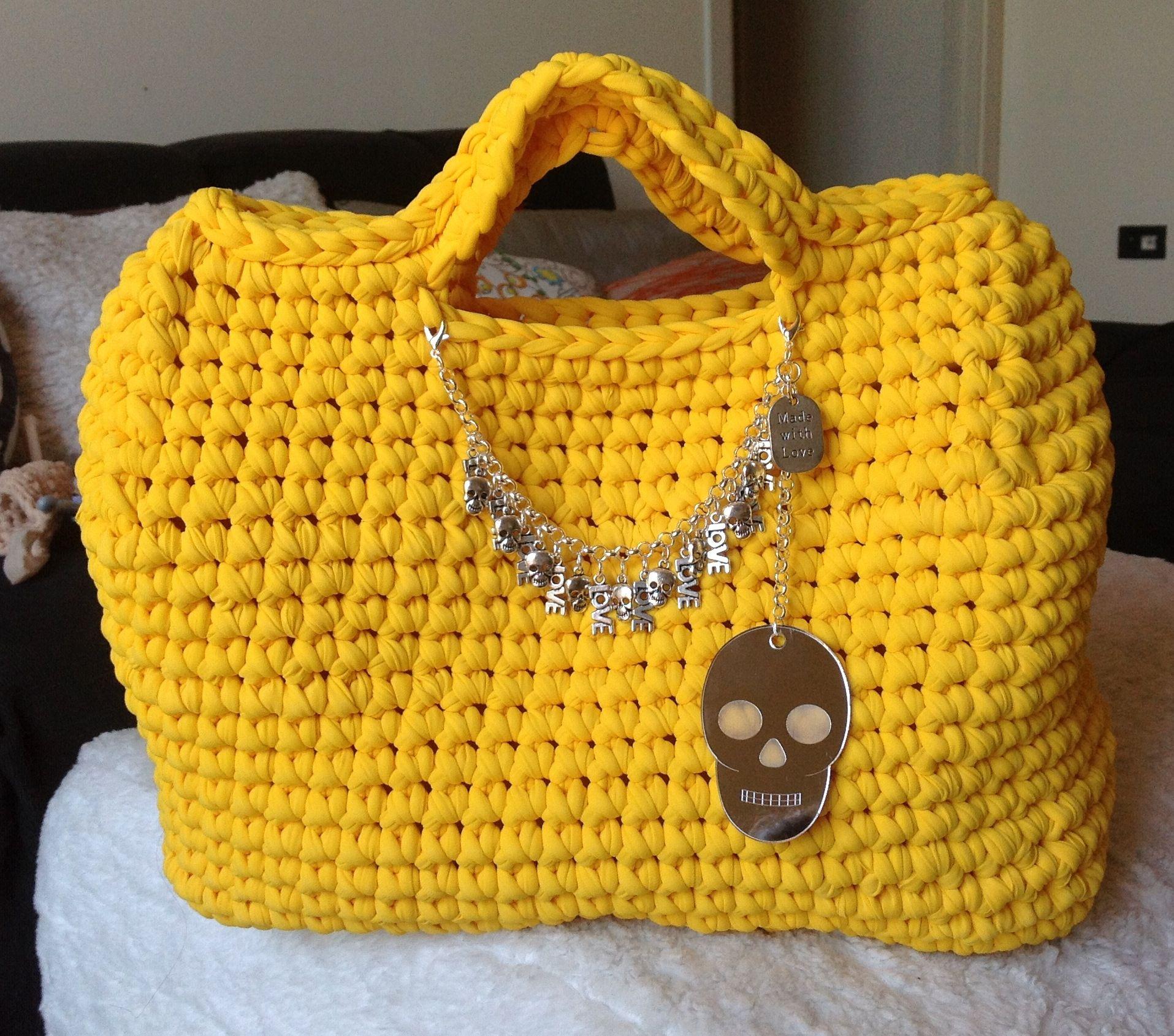 Borsa fettuccia crochet   Borse fettuccia crochet basic   Pinterest