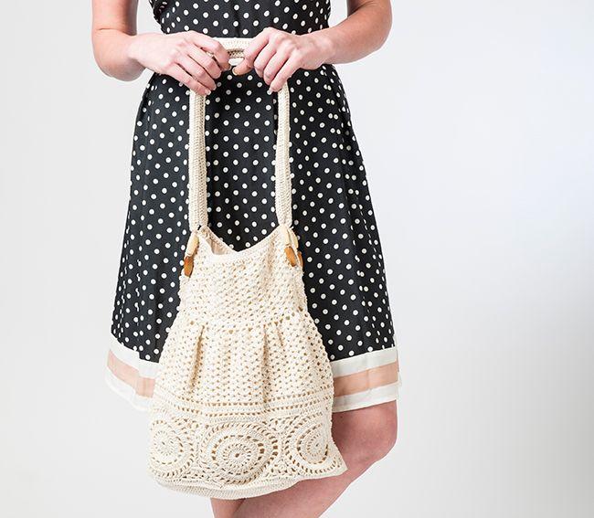 Vintage styled crochet bag | carteras muy delicadas | Pinterest ...