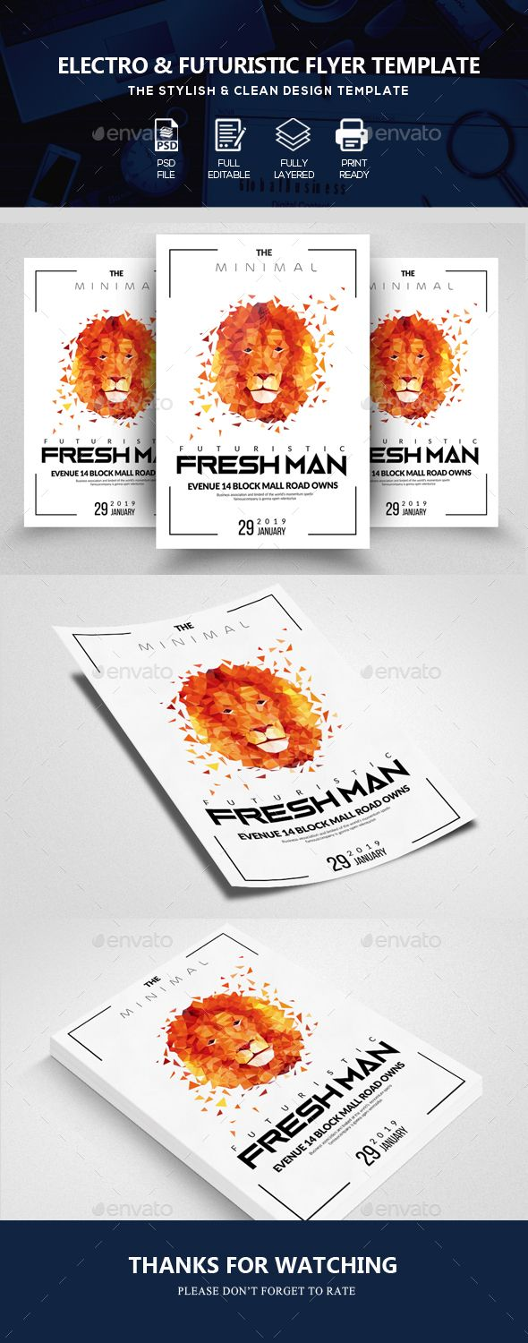 Futuristic Flyer Template | Flyer template, Template and Font family
