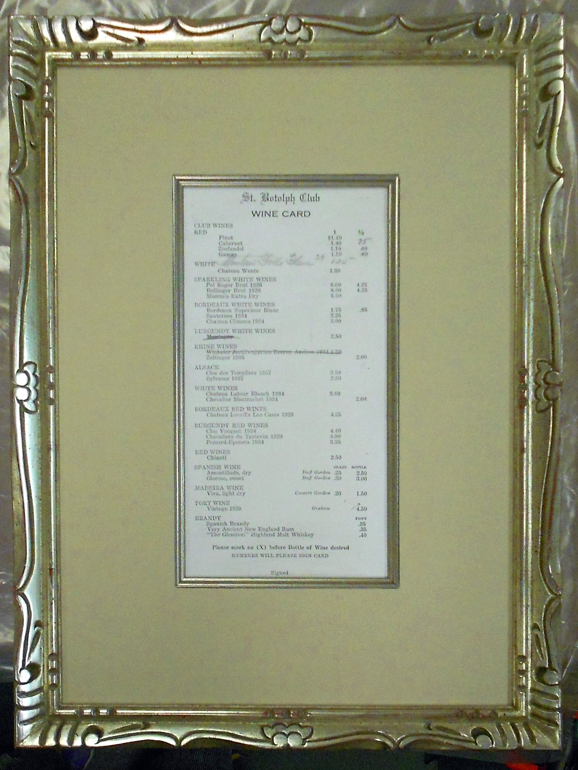 Vintage Menu with white gold fillet, silk wrapped mat, and white ...