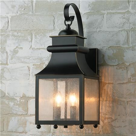 Homesteader Seeded Glass Outdoor Wall Lantern Outdoor Wall