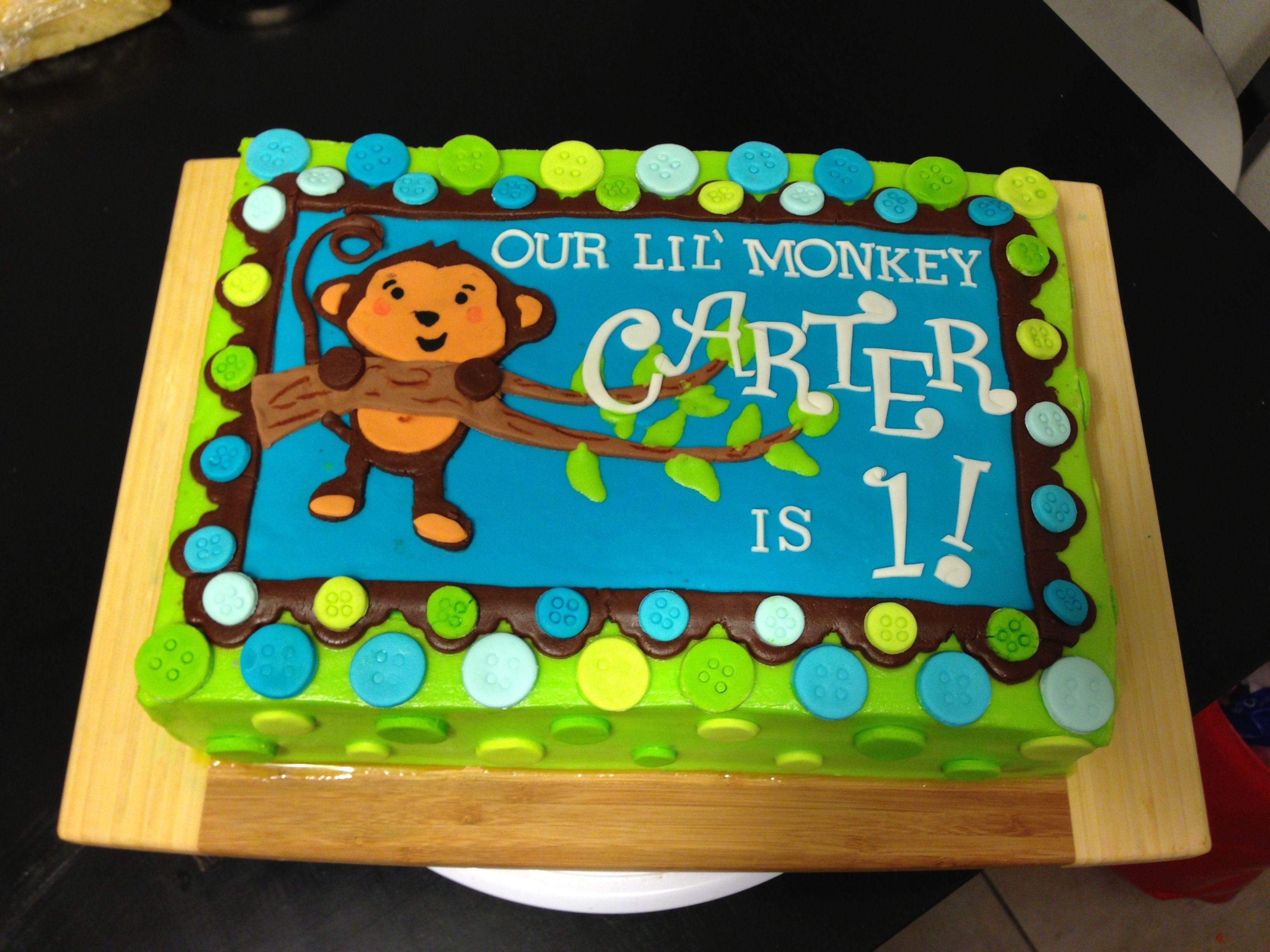 Monkey Birthday Cake By Shine Designs Kid Birthday Parties