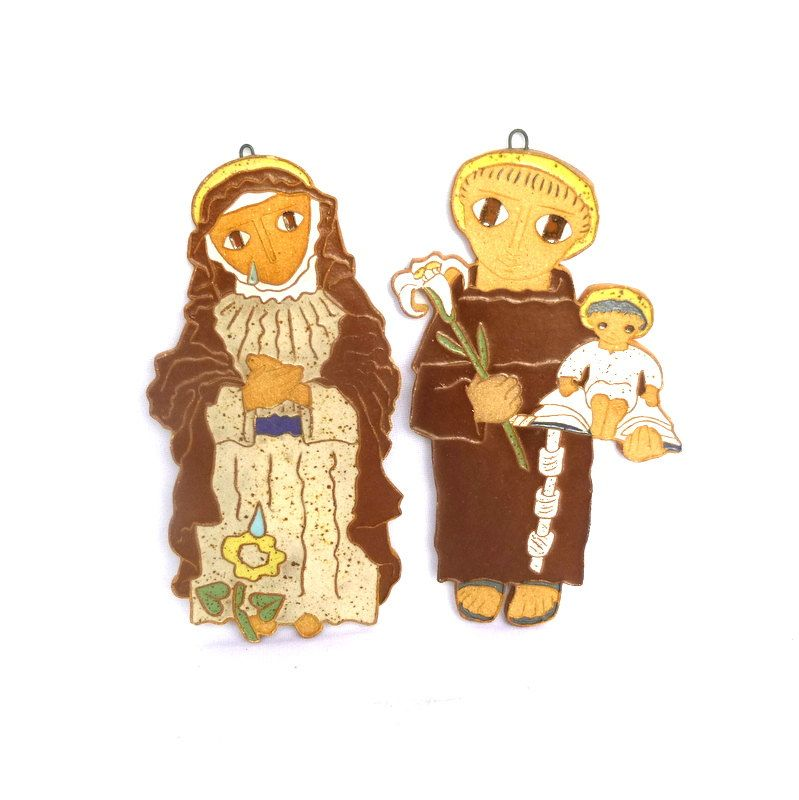 MARY and JOSEPH Wall PLAQUES/ Religious Wall Art | Mary and ...