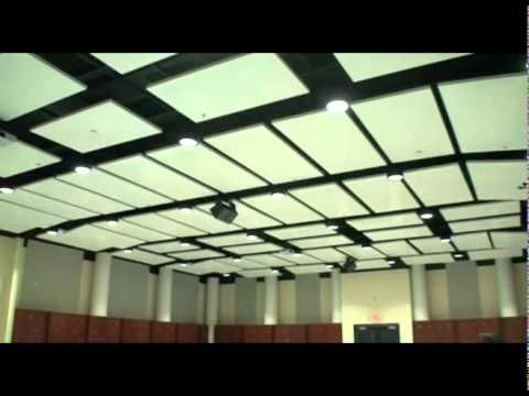 Video: Acoustical Treatment in Liberty University Band Room - Acoustic wall panels, diffusers, and cloud mount panels