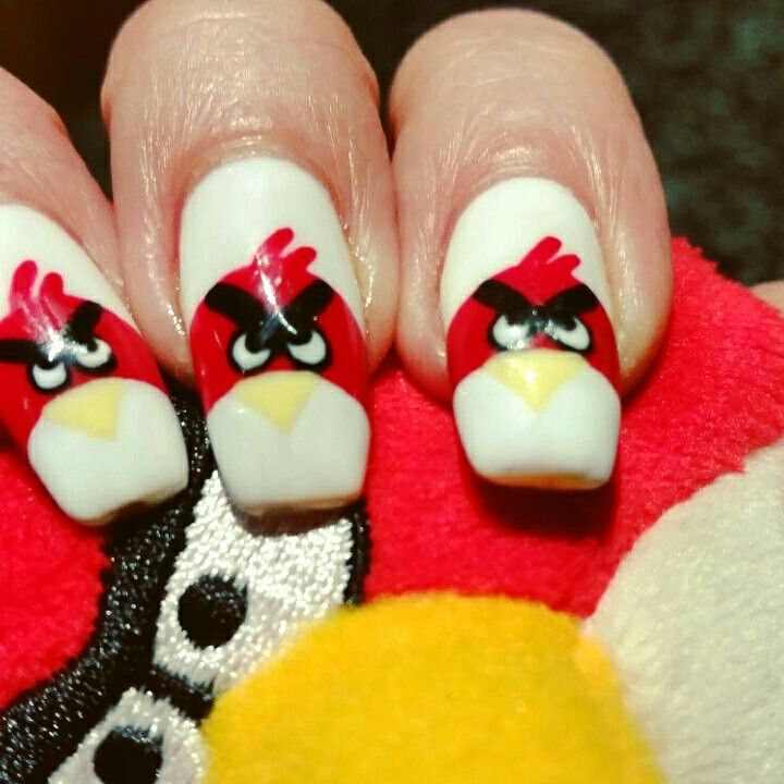 Angry birds nails | Sensualize Work | Pinterest | Angry birds and Bodies