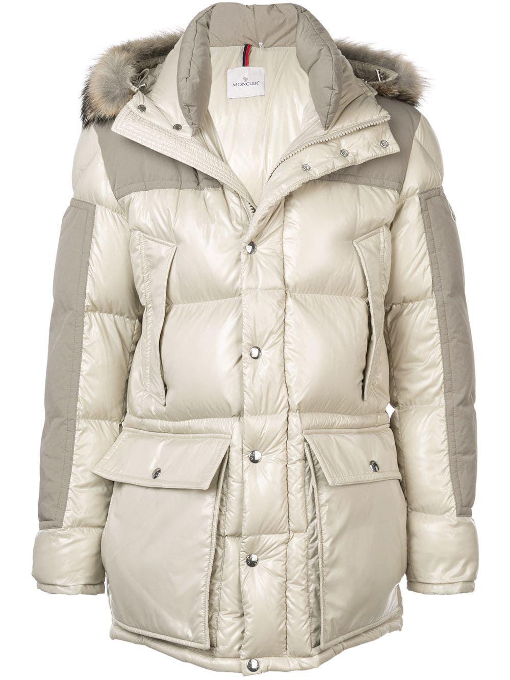Moncler furtrimmed Down Jacket Jackets, Fur trim, Moncler