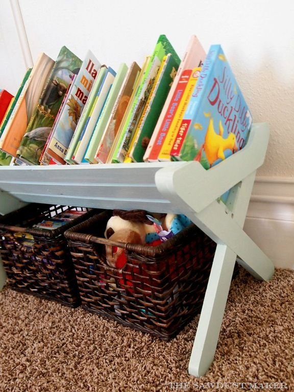 Diy How To Build A Children S Bookshelf Manger Diy Toy Storage