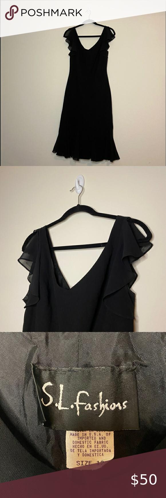 S L Fashions Vintage Black Dress Vintage Black Dress Vintage Fashion Fashion [ 1740 x 580 Pixel ]