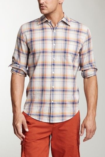 Sun Washed Plaid Button Front Shirt on HauteLook