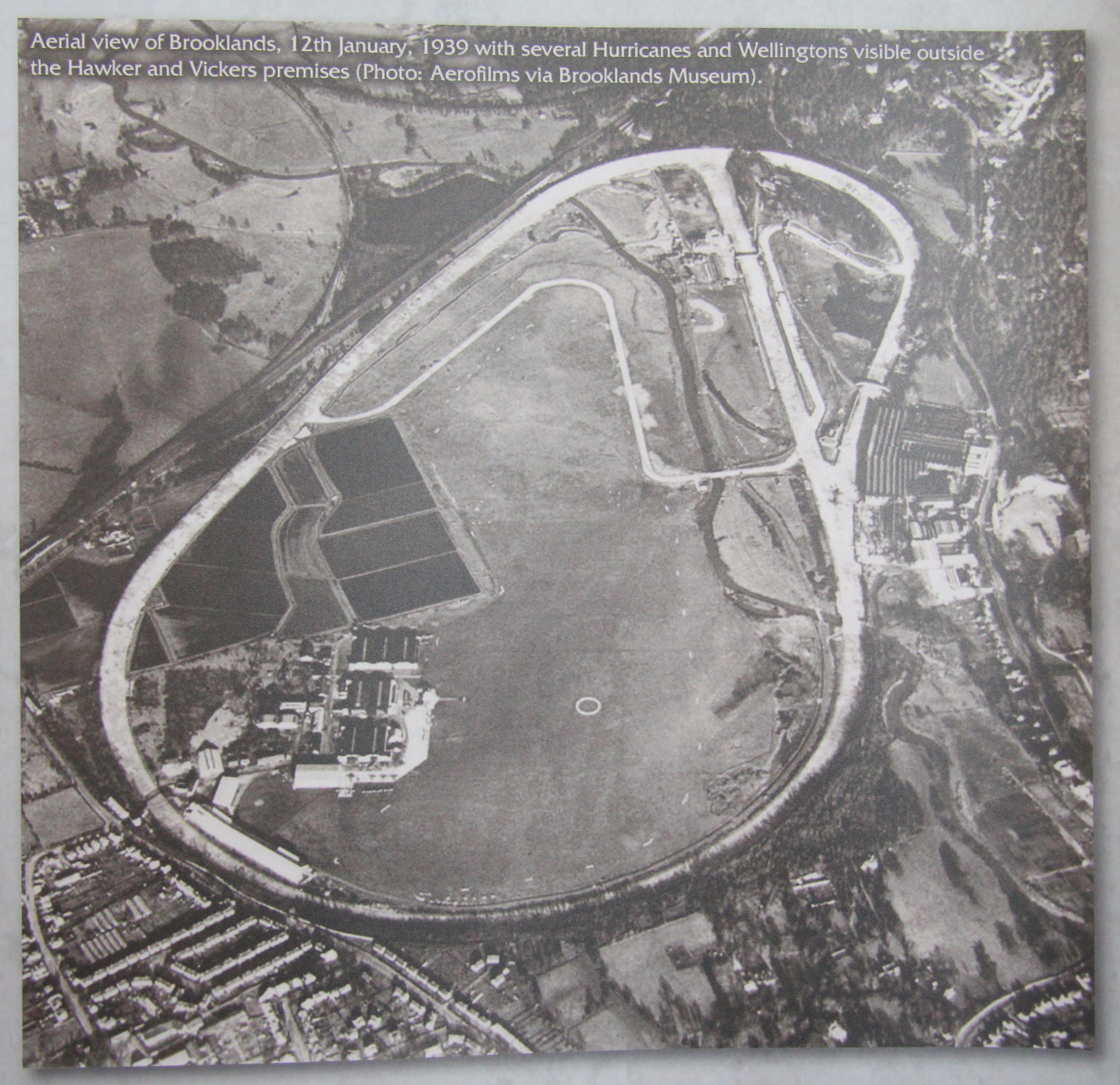 Aerial View Of Brooklands Circuit Taken On 12th January 1939 Photo Aerofilms Via Brooklands Museum Racing Bikes Vintage Race Car Vintage Racing