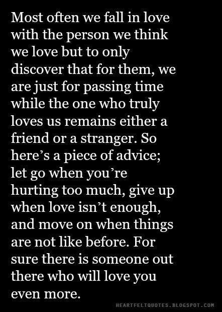 when to give up on love