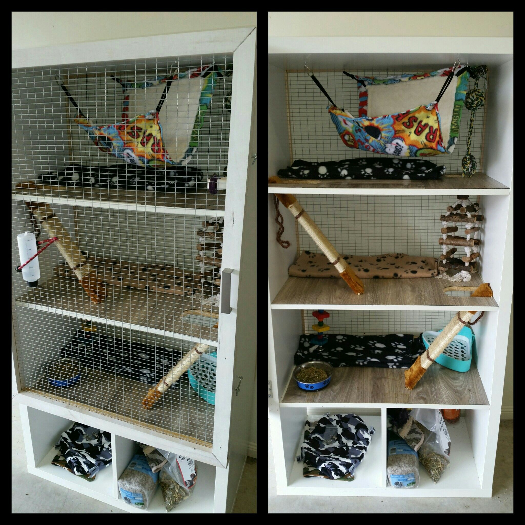 Awesome Rats Cage Made From An IKEA Bookshelf