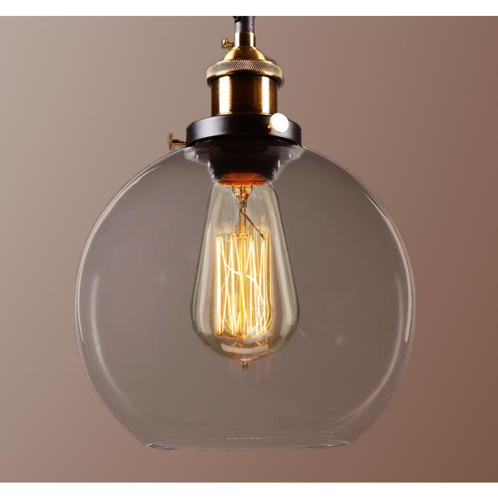Null edison maisie collection light black clear glass indoor