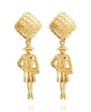 cf8f8bdc6f8430 Vintage Chanel earrings | Vintage Chanel Bags | Vintage chanel ...