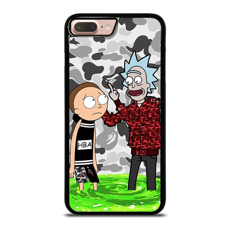 sports shoes b6813 d49f7 RICK AND MORTY RICK BAPE iPhone 8 Plus Case Cover | iPhone 8 Plus