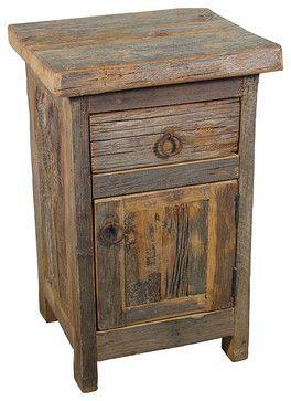 Barn Wood Nightstand Rustic Nightstands And Bedside Tables Bedroomfurniture