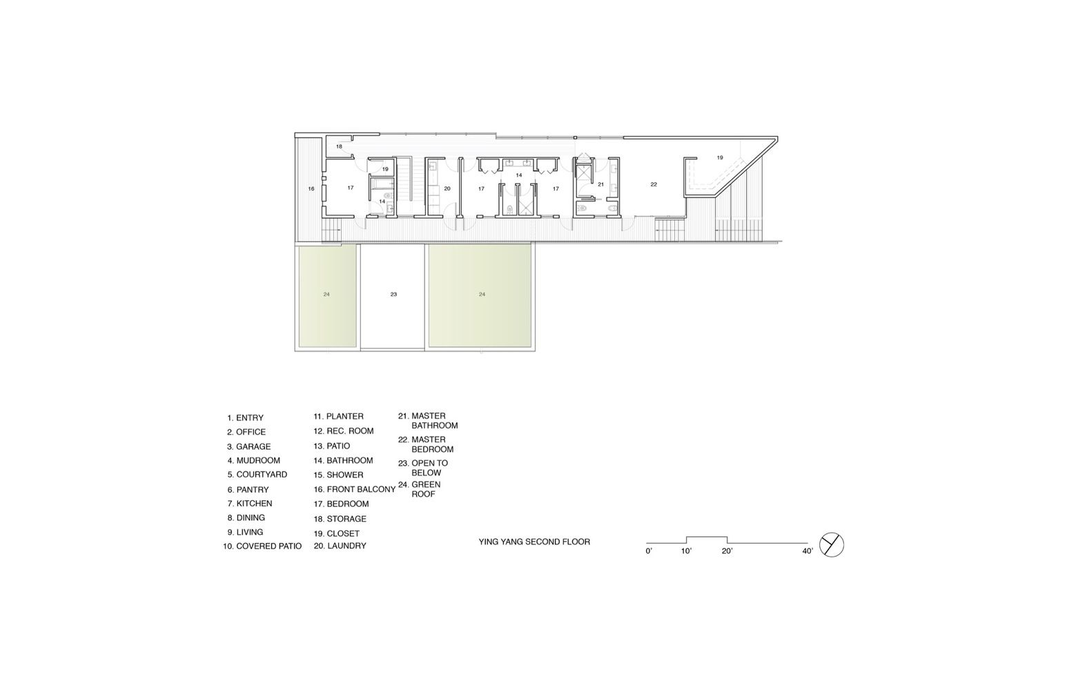 gallery of yinyang house  brooks  scarpa architects