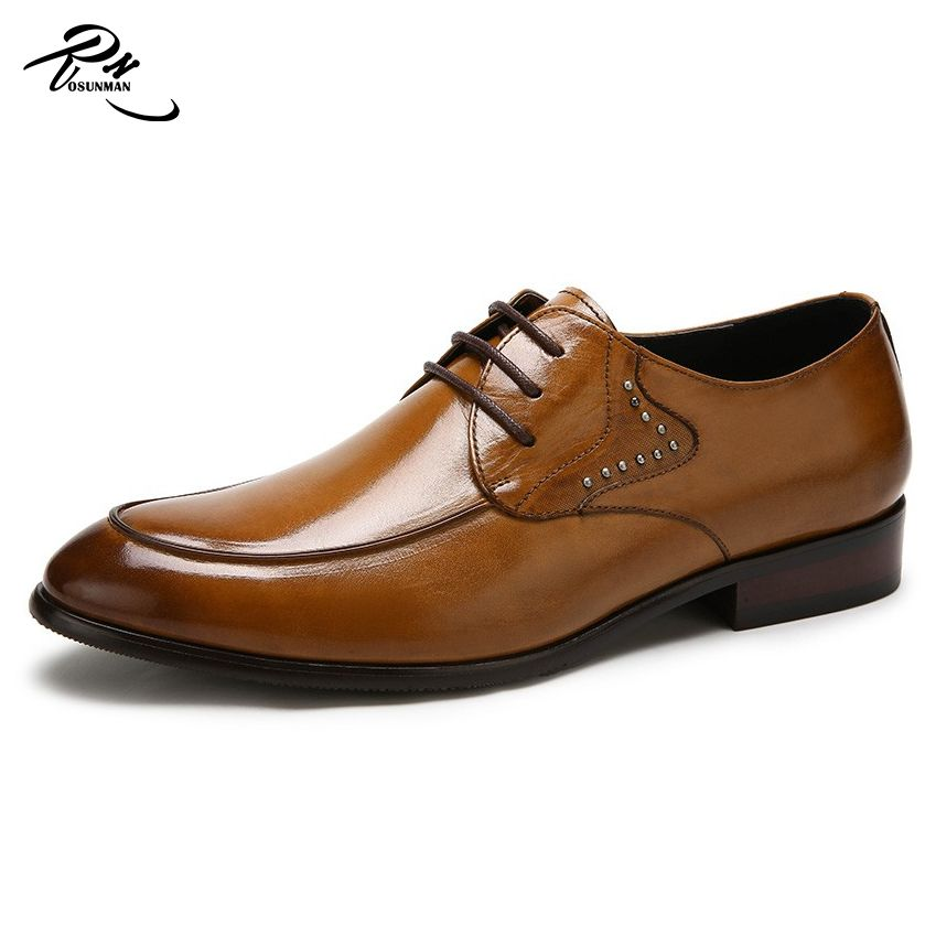 High quality mens leather dress shoes