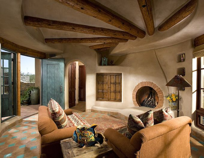 Interior Design Style: Southwestern Living Room ✦ Characteristics: Captures  Environment/heritage Of New