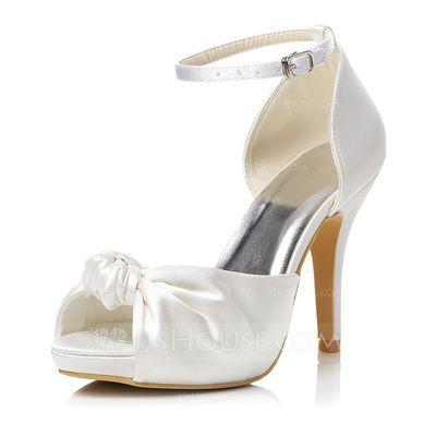 31036ca47ecb Wedding Shoes -  59.99 - Women s Satin Stiletto Heel Peep Toe Sandals With  Buckle (047048012