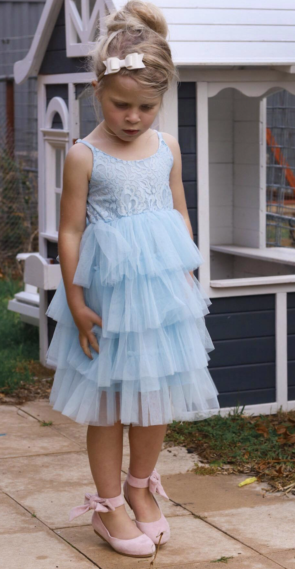 Girls Ice Blue Dolly Dress (With images) Dolly dress