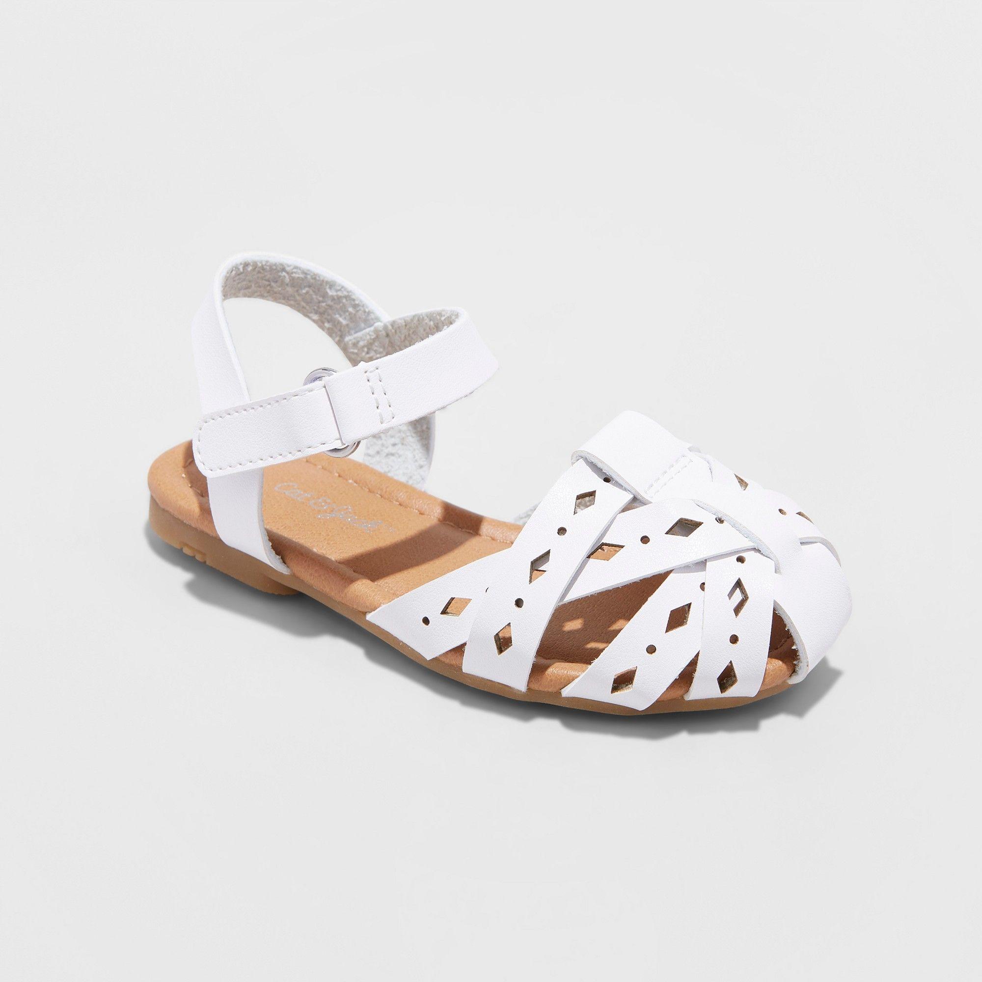 a8aa714a79a0 Toddler Girls' Elysia Huarache Sandals - Cat & Jack White 7 ...