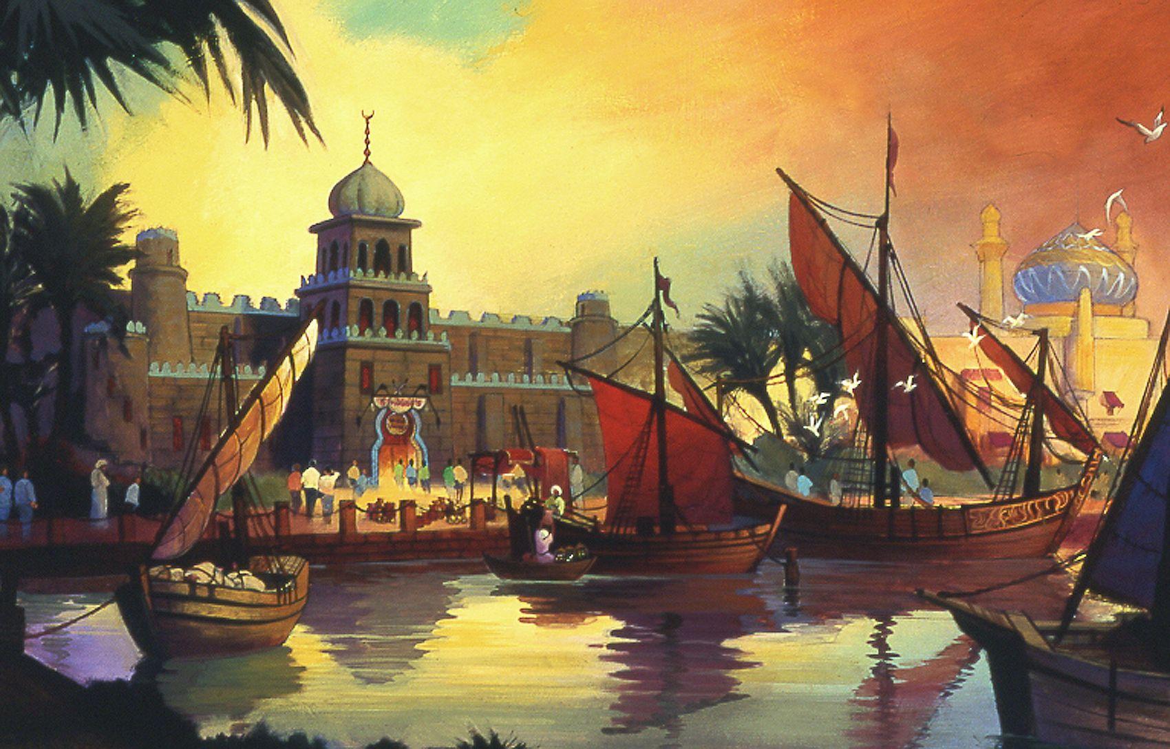 concept art, arabian coast, tokyo disney sea artist: phillip freer