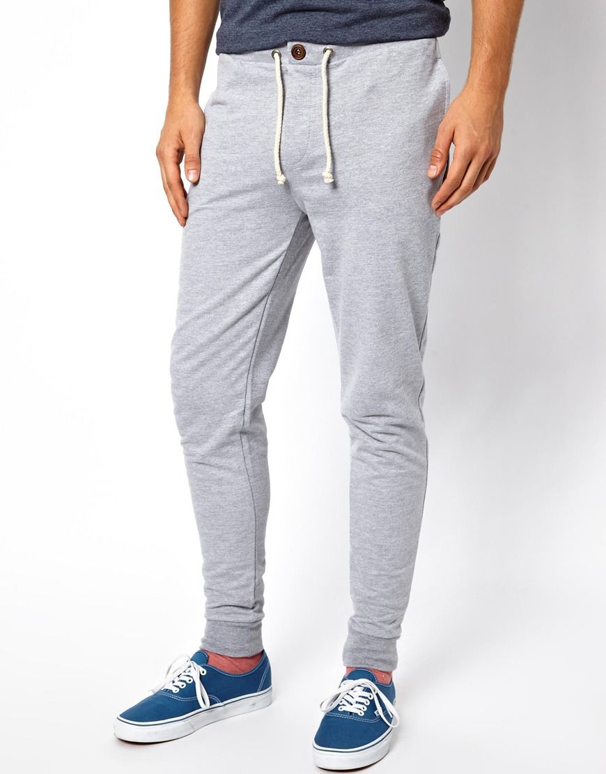 b7a9eac4d79057 ASOS Skinny Sweatpants With Zip Fly And Button Detail Cotton Sweatpants,  Mens Sweatpants, Clothing