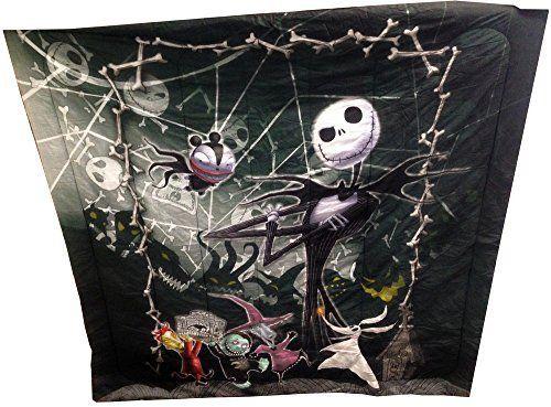 Disney Nightmare Before Christmas Full / Queen Comforter with Jack Skellington Lock Shock and Barrel