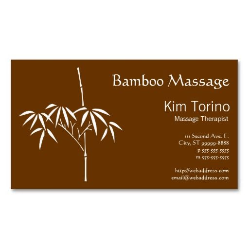 Massage therapist japanese bamboo business card japanese bamboo massage therapist japanese bamboo business card cheaphphosting Gallery