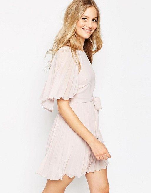 ASOS | ASOS Flutter Sleeve Pleated Mini Dress | asos | Pinterest ...