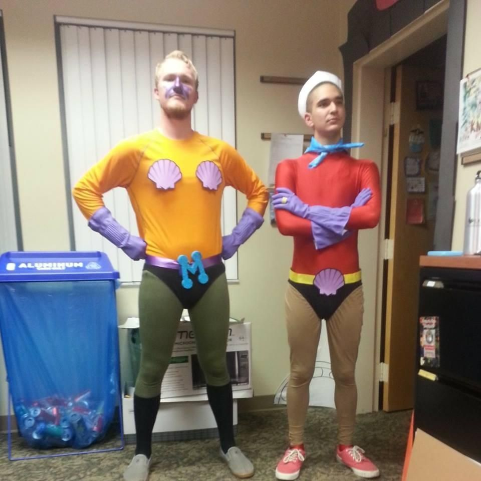 10 halloween costume ideas mermaid man and barnacle boy - Homemade Men Halloween Costumes