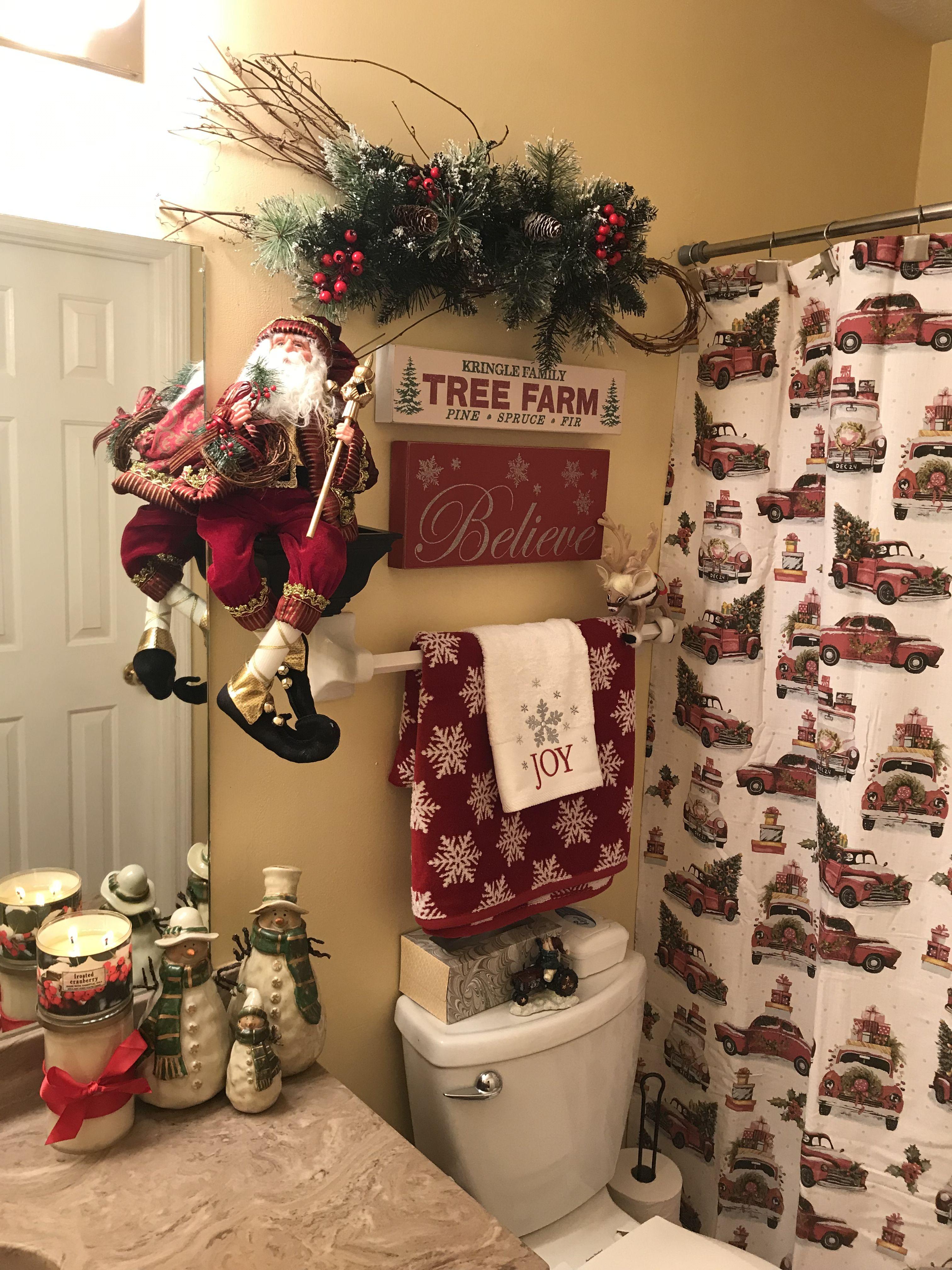 Pin By Scarlett James On Christmas Christmas Bathroom Christmas