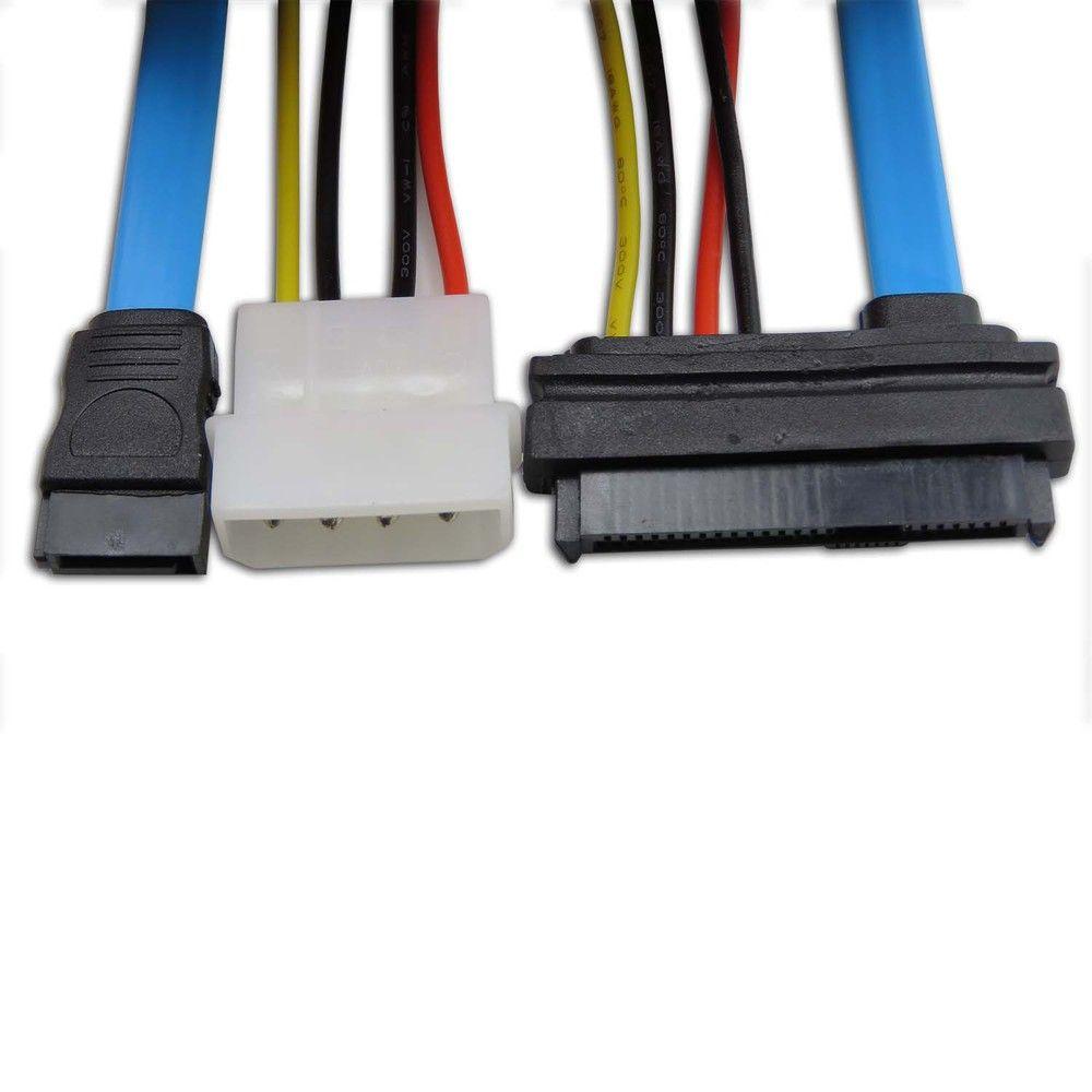 7 Pin SATA Serial ATA to SAS 29 Pin and 4 Pin Power Adapter Connector Cable New