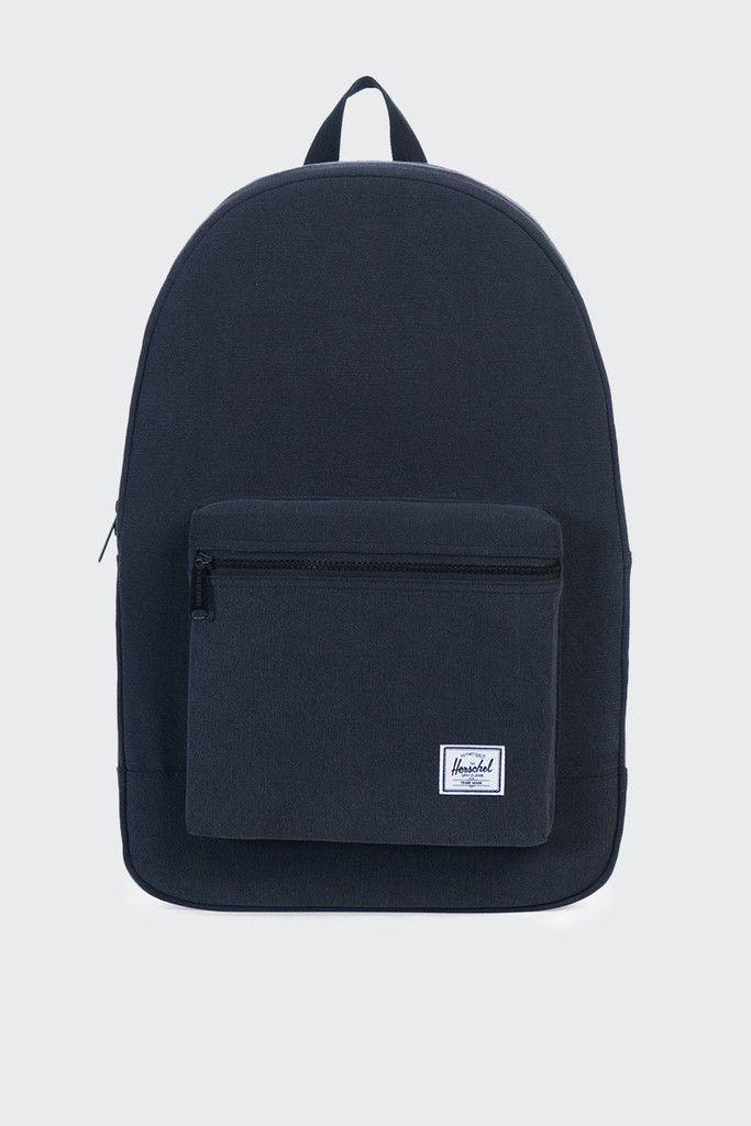 01c07040b88 Herschel Supply Co. Packable Daypack - black canvasSize  45cm W x 31.75cm H  x 14cm DMaterial  Canvas- Internal hanging pocket- Single exterior front  pocket- ...